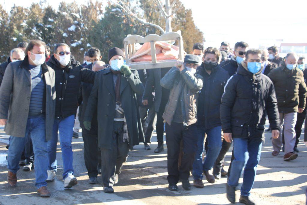 تشییع پیکر جانباز هشت سال دفاع مقدس، خبرنگار و عکاس پیشکسوت ماکویی