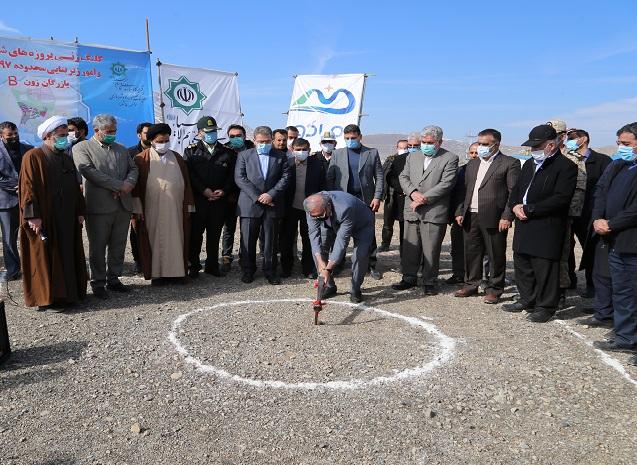 با حضور مشاور رییس جمهوری؛ عملیات توسعه شهری و امور زیربنایی ۹۷ هکتاری بازرگان آغاز شد