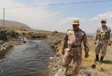 """با پیگیری های مرزبانی آب رودخانه مرزی """"ساریسو"""" در ماکو جاری شد"""